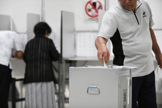 竹富と津堅、あす投票 知事選 台風接近で繰り上げ