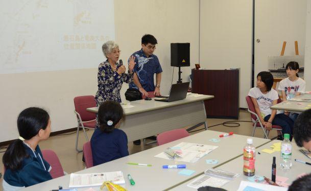 児童ら対馬丸学ぶ 奄美大島との交流の事前研修 30人参加参加