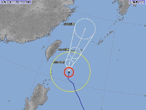 台風27号、先島へきょう深夜最接近 あすにも熱低に