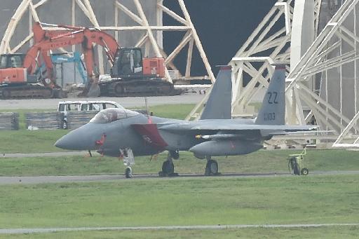 米軍F15戦闘機から部品落下 重さ3.6キロ 沖縄周辺、落下場所は不明