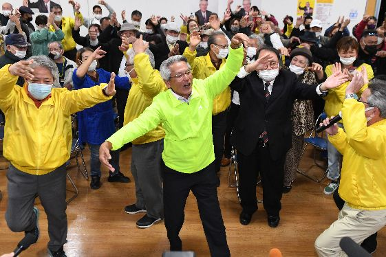 宮古島市長選 初当選の座喜味さん「市民のための市政を実現」
