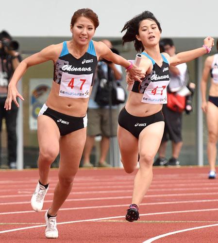 陸上女子国体リレー 神戸新聞NEXT | スポーツ | 茨城国体が閉幕 陸上・成年少年女子 ...